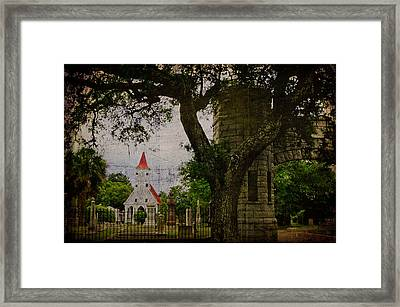 Bethany Cemetery Entryway Framed Print