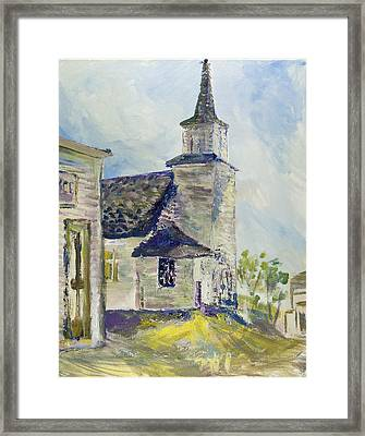 Bethel Church At Buckstop Junction Framed Print by Helen Campbell