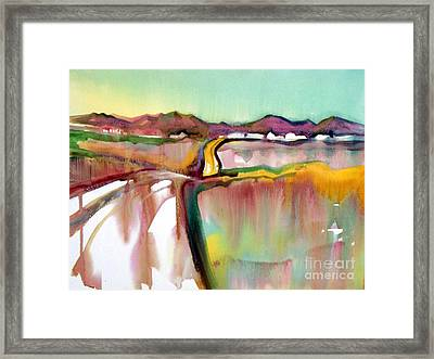 Framed Print featuring the painting Bethel Road by Teresa Ascone