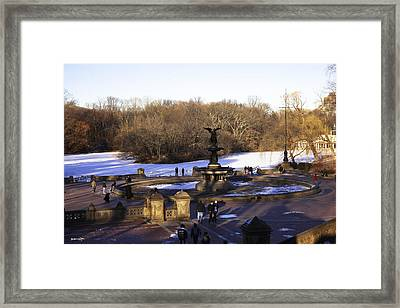 Bethesda Fountain 2013 - Central Park - Nyc Framed Print by Madeline Ellis