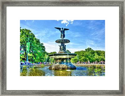 Bethesda Fountain At Central Park Framed Print by Randy Aveille