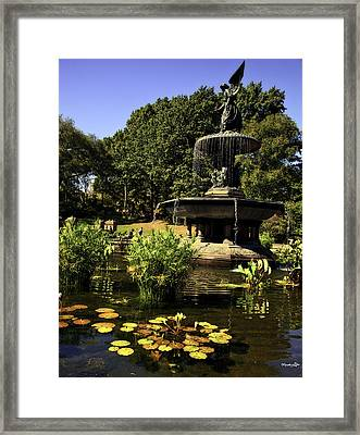 Bethesda Fountain - Central Park 2 Framed Print by Madeline Ellis