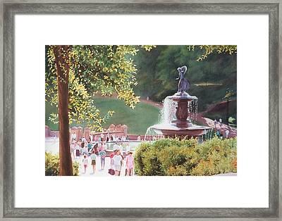 Bethesda Fountain Framed Print by Daniel Dayley