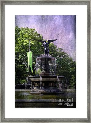 Bethesda Fountain Framed Print by Madeline Ellis