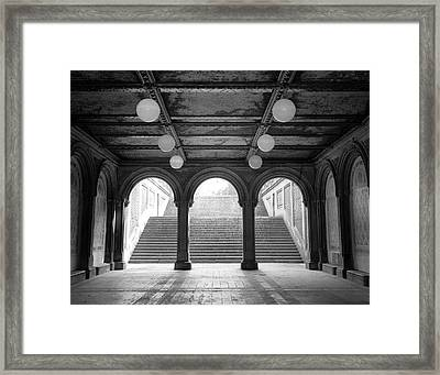 Framed Print featuring the photograph Bethesda Passage Central Park by Dave Beckerman