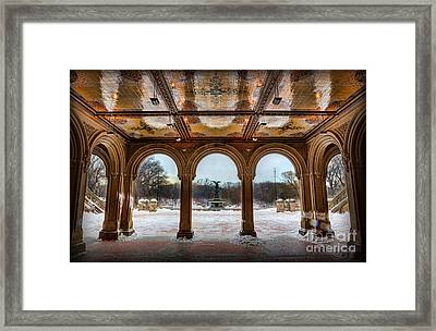 Bethesda Terrace Lower Passage II Framed Print by Lee Dos Santos