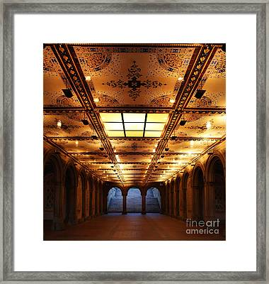 Bethesda Terrace Lower Passage Framed Print by Lee Dos Santos