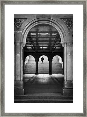Bethesda Underpass At Central Park In New York City Framed Print by Ilker Goksen