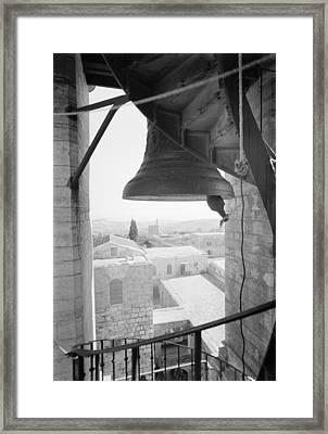 Bethlehem Bell Tower Framed Print by Granger
