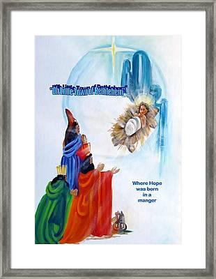 Bethlehem Framed Print by Carol Allen Anfinsen