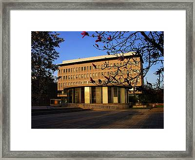 Bethlehem City Rotunda And City Hall Framed Print