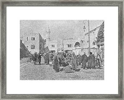 Bethlehem Donkeys Market Framed Print by Munir Alawi