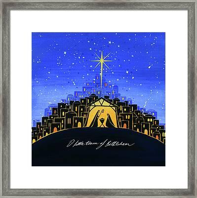 Bethlehem Framed Print by P.s. Art Studios