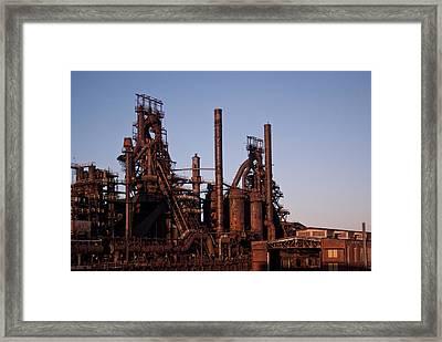 Bethlehem Steel At Sunset Framed Print