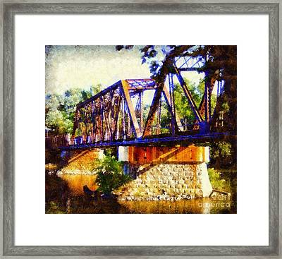 Train Trestle Bridge Framed Print by Janine Riley