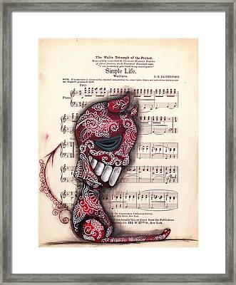 Betrayed  Framed Print by  Abril Andrade Griffith