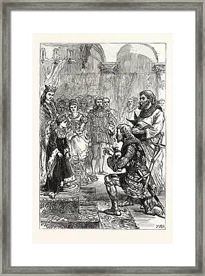 Betrothal Of The Princess Isabella To Richard Framed Print
