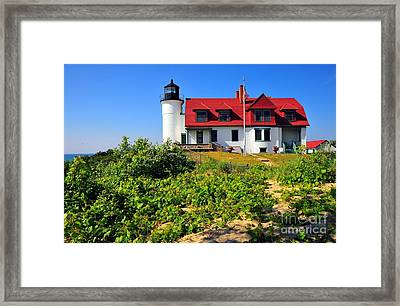 Betsie Point Lighthouse Framed Print