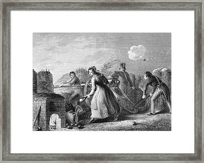 Betsy Doyle A Soldiers Wife Helping Framed Print