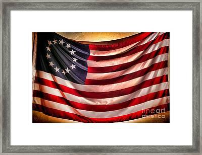 Betsy Ross Flag Framed Print by Olivier Le Queinec