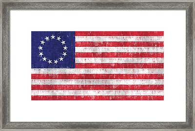 Betsy Ross Flag Framed Print by World Art Prints And Designs