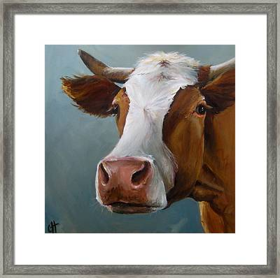 Betsy The Cow Framed Print by Cari Humphry