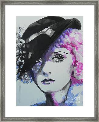 Bette Davis 02 Framed Print by Chrisann Ellis