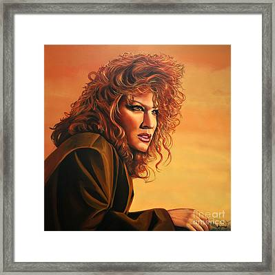 Bette Midler Framed Print by Paul Meijering