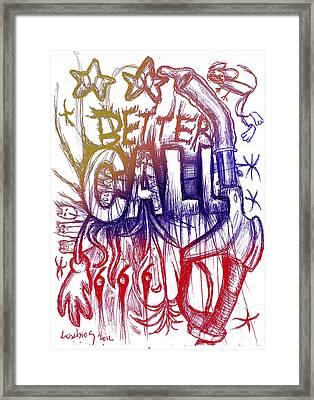 Better Call 666 Colour Version Framed Print