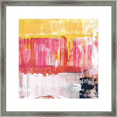 Better Days- Large Abstract Framed Print by Linda Woods
