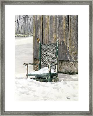 Better Days - Winter Framed Print by Ted Head