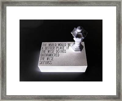 Better Place Framed Print by Tony Murray