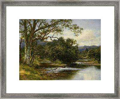 Bettws Coed Northwales Framed Print by Benjamin Williams Leader