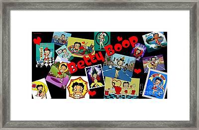 Betty Boop Wall Mural 2 Framed Print
