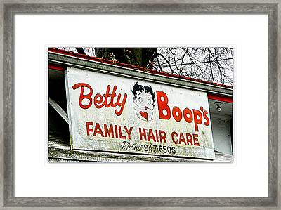 Betty Boops Family Hair Care Framed Print by Kathy Barney
