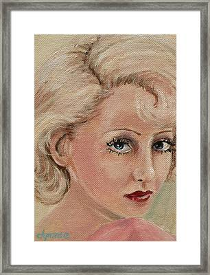 Betty Eyes Framed Print by Dyanne Parker