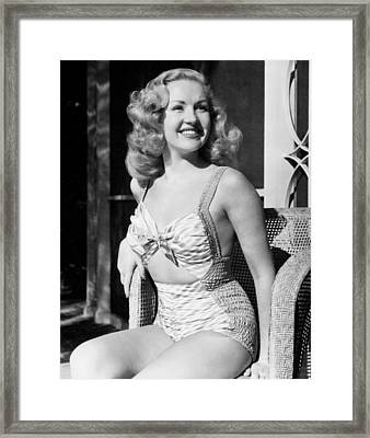 Betty Grable, Ca. 1940 Framed Print by Everett