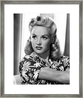 Betty Grable, Ca. Early 1940s Framed Print by Everett
