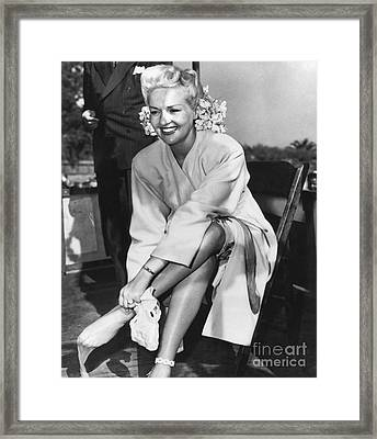 Betty Grable, Us Actress Framed Print