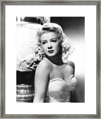 Betty Hutton, 1945 Framed Print