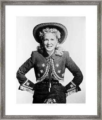 Betty Hutton Framed Print by Silver Screen