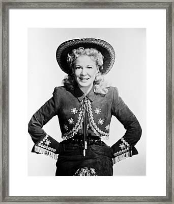 Betty Hutton Framed Print