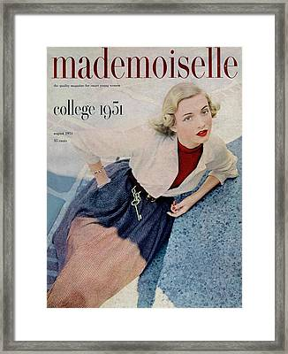 Betty Mcclain Wearing Dan River Framed Print