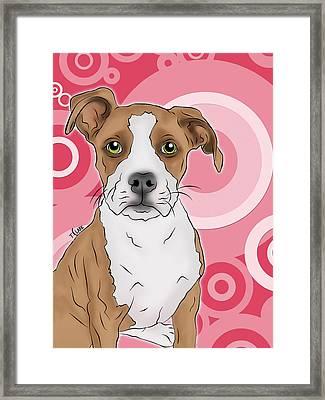 Betty The Boxer Framed Print by Tony Clark