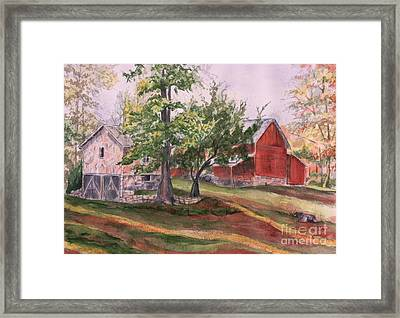 Betty's Barn Framed Print