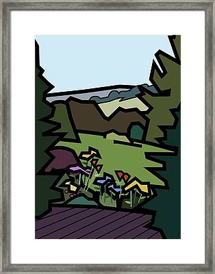 Betty's Garden Framed Print by Kenneth North