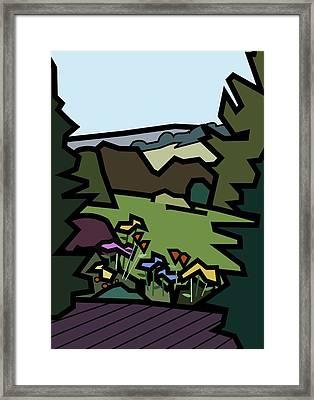 Betty's Garden Framed Print by Kenneth North