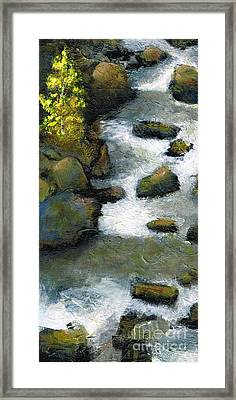 Between A Rock And A Great Place Framed Print by Frances Marino