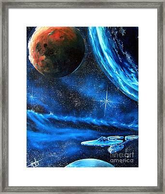 Between Alien Worlds Framed Print by Murphy Elliott