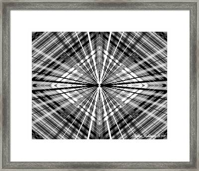Framed Print featuring the digital art Between Black And White by Brian Johnson